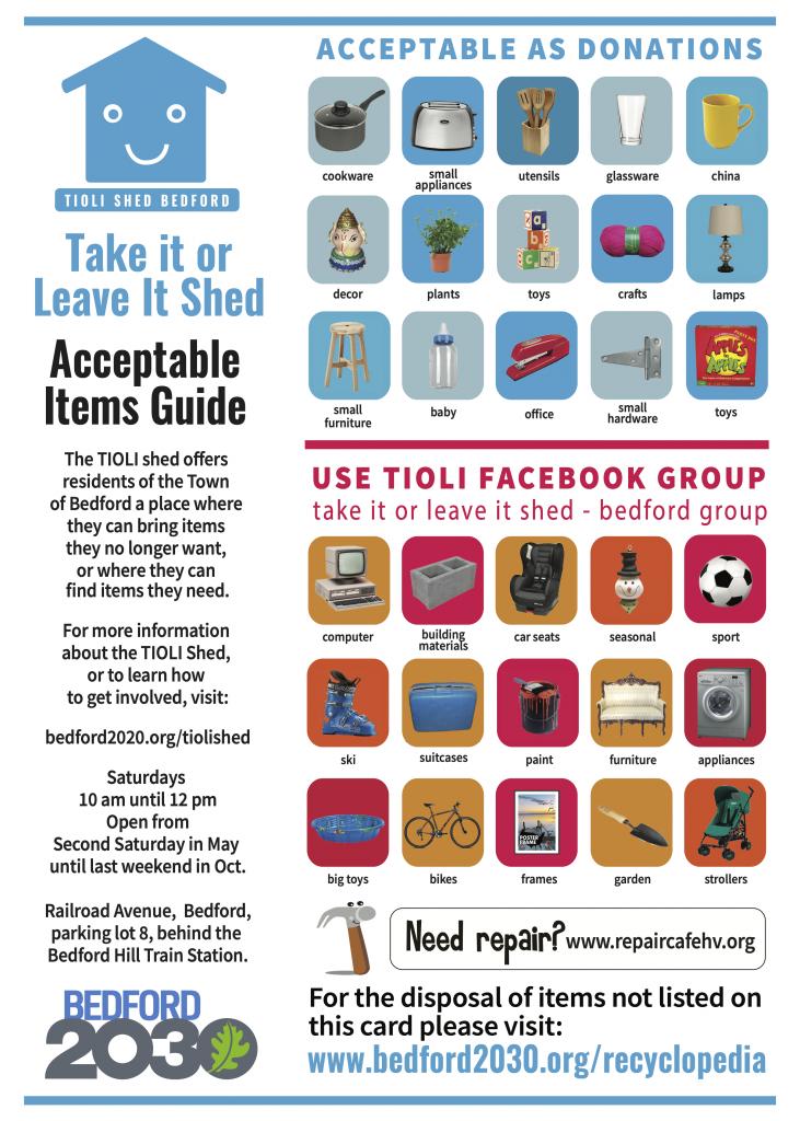 Acceptable Items Card