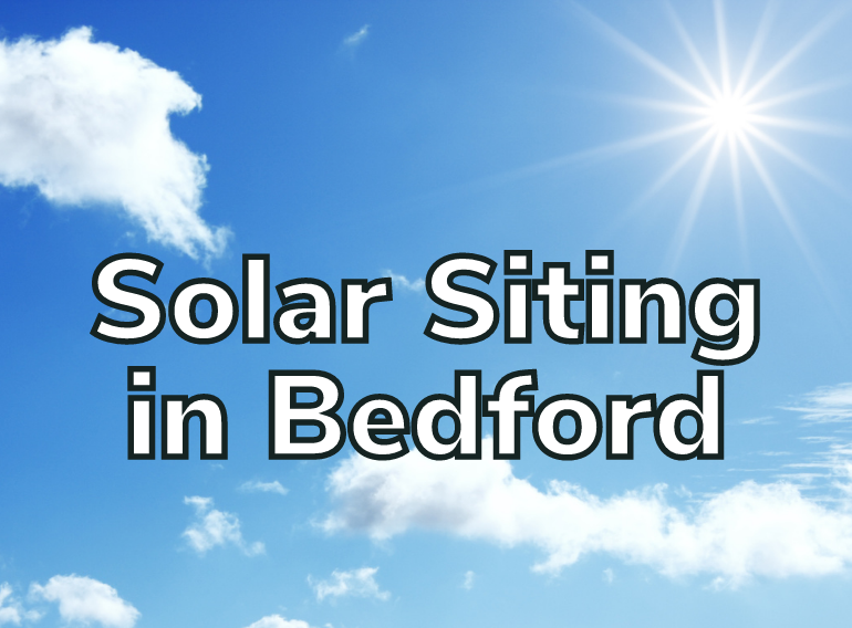 Solar Siting in Bedford